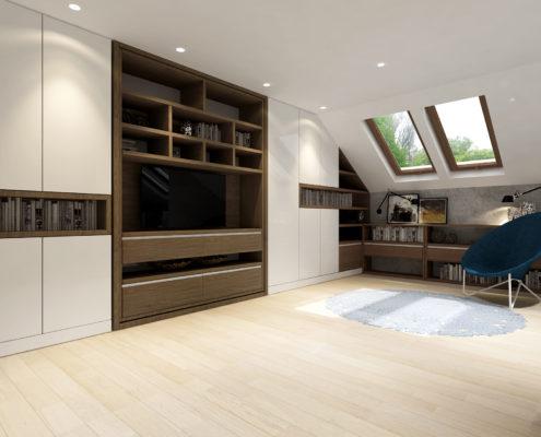 Smartbed Twist obrotowe łóżko w szafie rozkładane inteligentne
