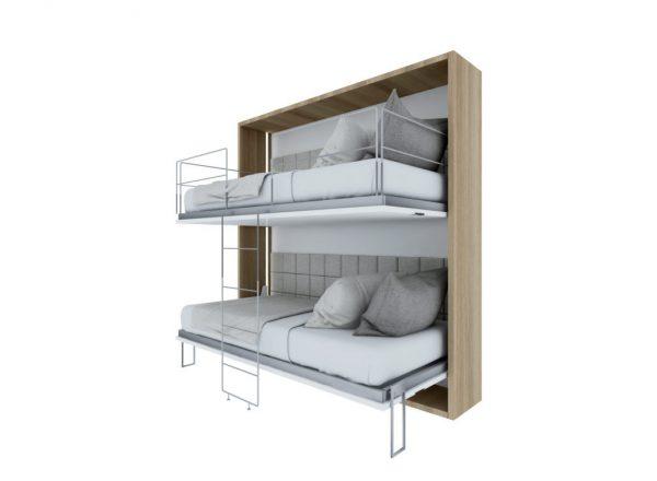 Smartbed Twin poziome łózko piętrowe składane w szafie