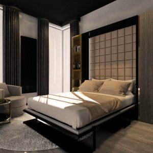 Smartbed V Desk pionowe łóżko w szafie z biurkiem