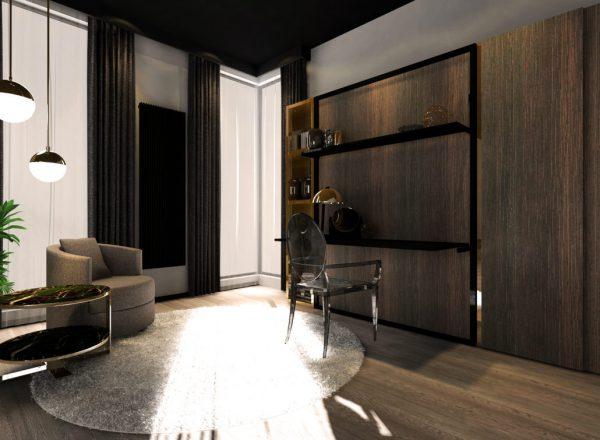 Smartbed V Desk pionowe łóżko rozkładane w szafie z biurkiem