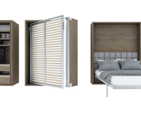 Smartbed Twist obrotowe łóżko w szafie meble inteligentne
