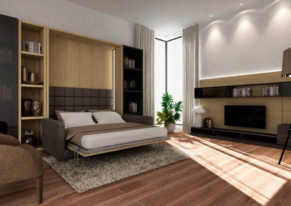 Smartbed V Sofa podwójne pionowe łóżko w szafie z sofą