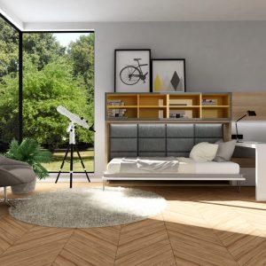 Smartbed O podwójne poziome łóżko w szafie