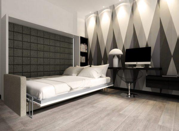 Smartbed O Sofa poziome łóżko w szafie