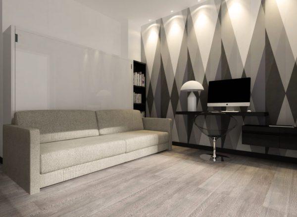 Łozko transform Smartbed O Sofa poziome łóżko w szafie