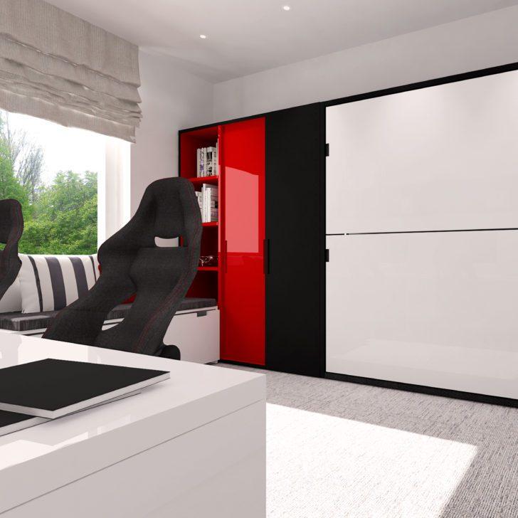 Smartbed Twin poziome łózko piętrowe schowane w szafie