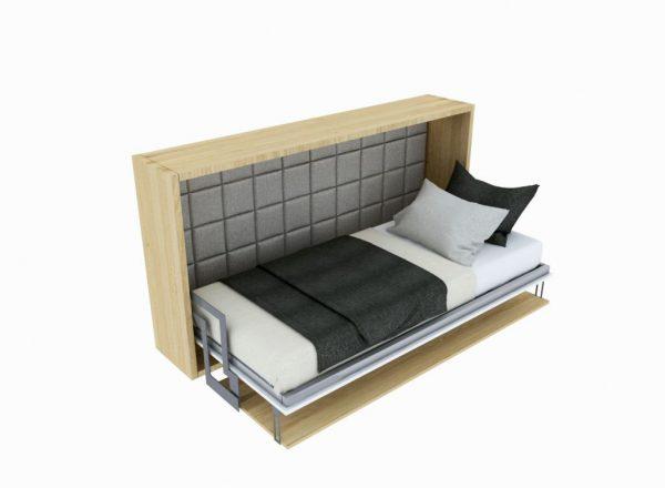 Smartbed Single poziome łóżko w szafie inteligentne biurkiem