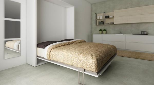 Smartbed Table pionowe łóżko w szafie ze stołem Kraków