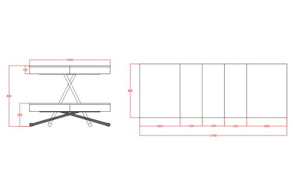 stol rozkladany rozmiary