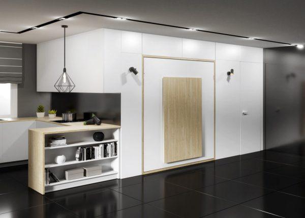 Łozko w szafie rozkladane inteligentne meble Smartbed