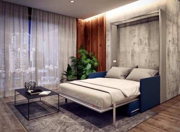 smartbed v young sofa łóżko w szafie meble inteligentne