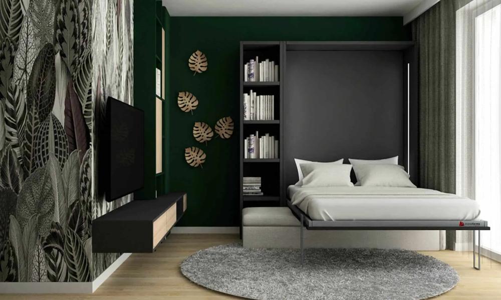 Łóżko w szafie rozkładane z sofą Smartbed V Sofa Box