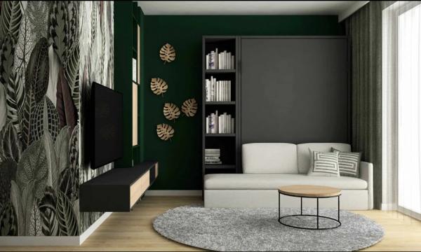 Łóżko w szafie z sofą Smartbed V Sofa Box łóżko transformer
